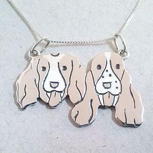 colar cachorros prata