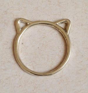 anel banhado a ouro zoojoias